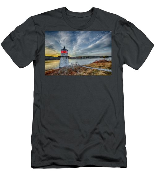 Sunset, Squirrel Point Lighthouse Men's T-Shirt (Athletic Fit)