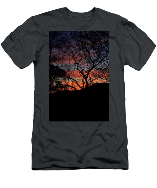 Men's T-Shirt (Slim Fit) featuring the photograph Sunset by Tammy Schneider