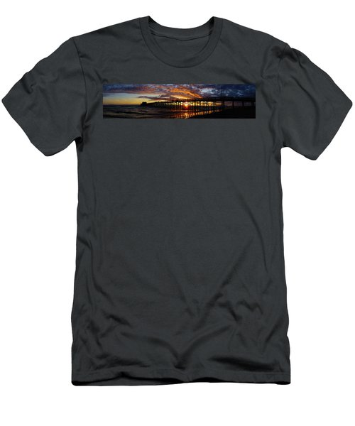 Men's T-Shirt (Slim Fit) featuring the photograph Sunset  by Thanh Thuy Nguyen