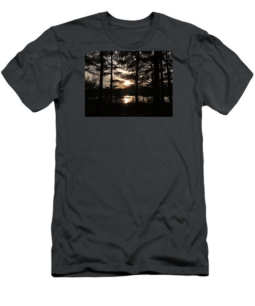Men's T-Shirt (Slim Fit) featuring the photograph Sunset Through The Pines by Teresa Schomig