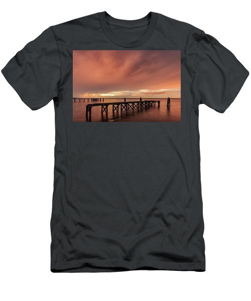 Sunset Thru Storm Clouds Men's T-Shirt (Athletic Fit)