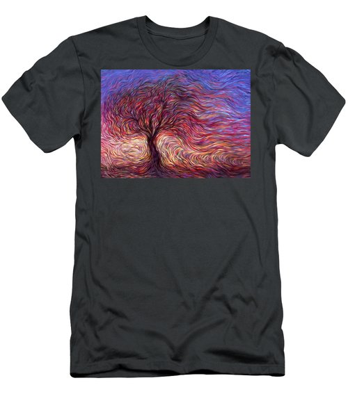 Sunset Tree Men's T-Shirt (Slim Fit) by Hans Droog