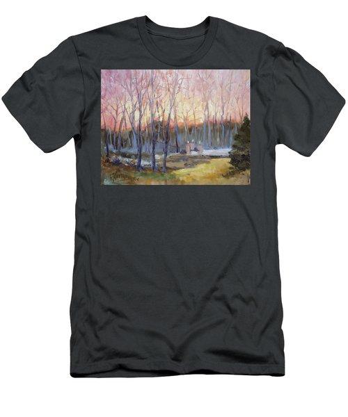 Sunset Trees Men's T-Shirt (Slim Fit) by Irek Szelag