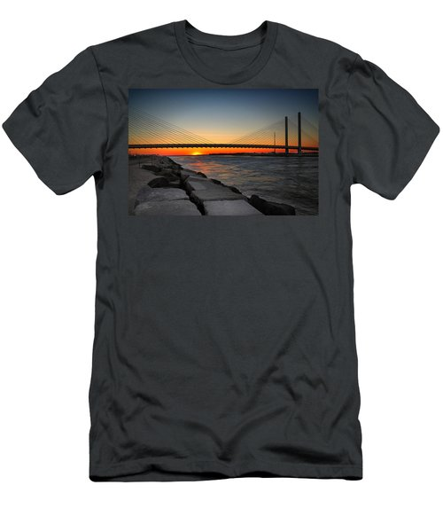 Sunset Under The Indian River Inlet Bridge Men's T-Shirt (Athletic Fit)