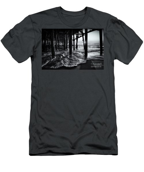 Sunset Under The Santa Monica Pier Men's T-Shirt (Athletic Fit)