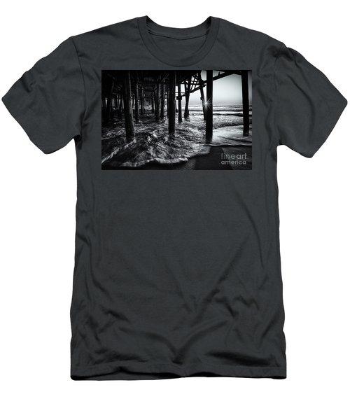 Sunset Under The Santa Monica Pier Men's T-Shirt (Athletic Fit)