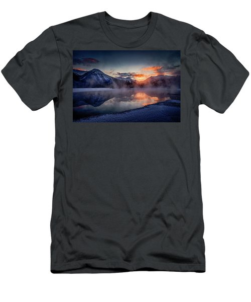 Sunset, Vermilion Lakes Men's T-Shirt (Athletic Fit)