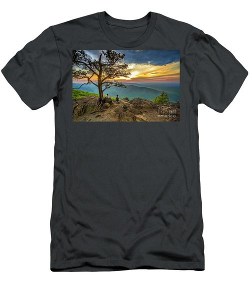 Sunset View At Ravens Roost Men's T-Shirt (Athletic Fit)