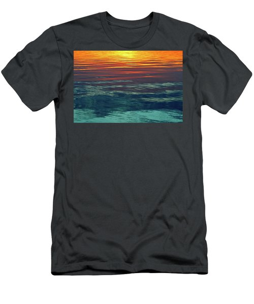 Sunset Water  Men's T-Shirt (Slim Fit)