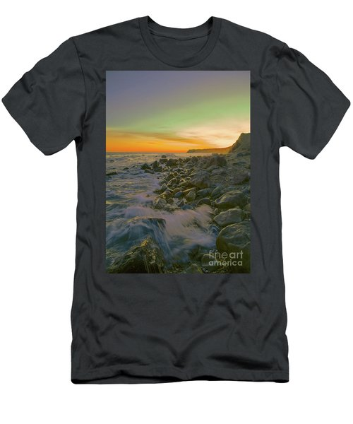 Sunset Waves Men's T-Shirt (Slim Fit) by Todd Breitling