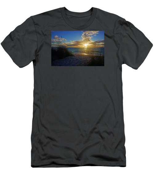 Sunset Windsurfer Men's T-Shirt (Slim Fit) by Robb Stan