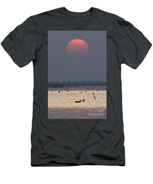 Sunset With Coots Men's T-Shirt (Athletic Fit)