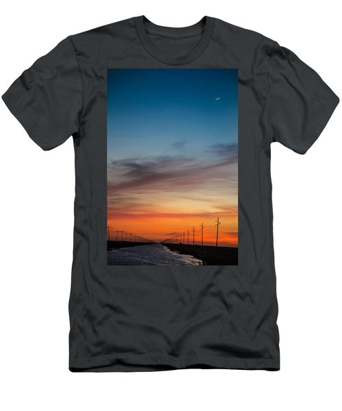 Sunset With Moon Sliver Men's T-Shirt (Athletic Fit)