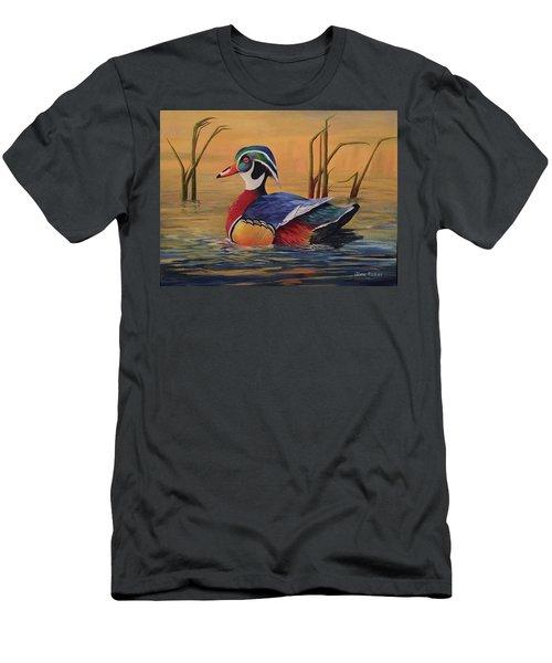 Sunset Wood Duck Men's T-Shirt (Athletic Fit)