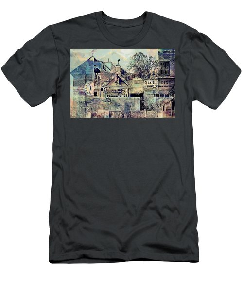 Men's T-Shirt (Slim Fit) featuring the digital art Sunsets And Blue Point Collage by Susan Stone