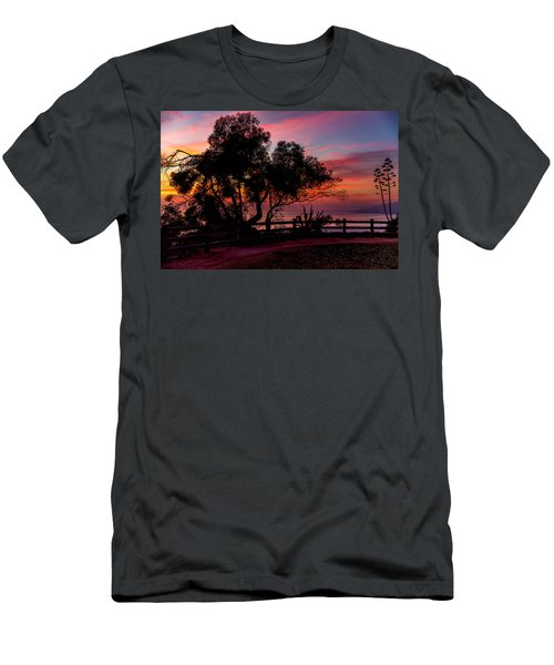 Sunset Silhouettes From Palisades Park Men's T-Shirt (Athletic Fit)