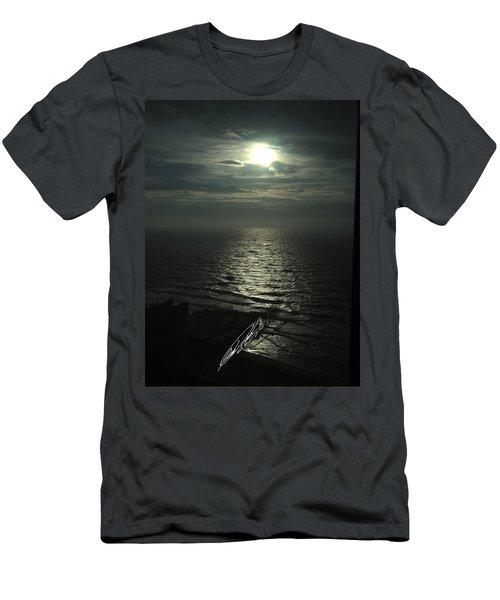 Sunshine Over Central Pier, Atlantic City, Nj Men's T-Shirt (Athletic Fit)