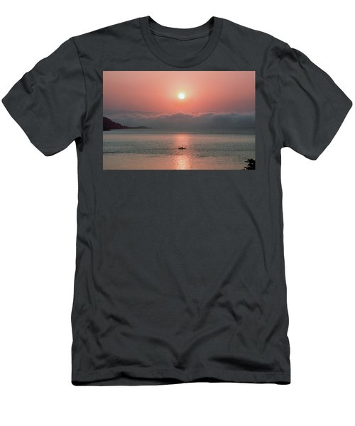 Men's T-Shirt (Athletic Fit) featuring the photograph Sunup San Francisco Bay by Frank DiMarco