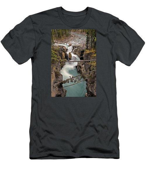 Sunwapta Falls Men's T-Shirt (Slim Fit) by John Gilbert