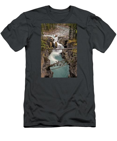 Sunwapta Falls Men's T-Shirt (Athletic Fit)