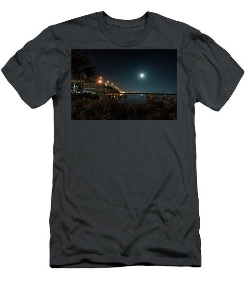 Super Moon And Bridge Lights Men's T-Shirt (Athletic Fit)