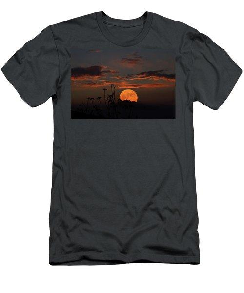 Super Moon And Silhouettes Men's T-Shirt (Slim Fit) by John Haldane