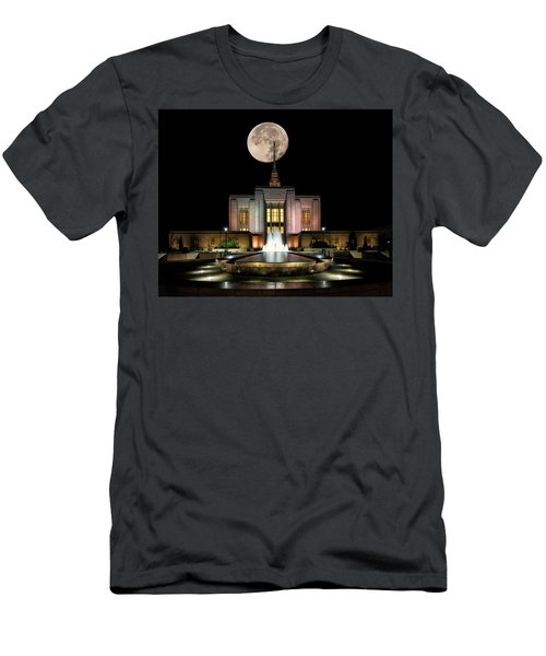 Super Moon At Ogden Lds Temple Men's T-Shirt (Athletic Fit)