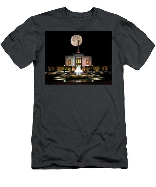 Super Moon At Ogden Lds Temple Men's T-Shirt (Athletic Fit)
