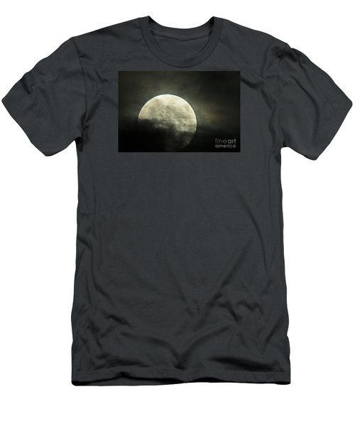 Super Moon In Clouds Men's T-Shirt (Athletic Fit)