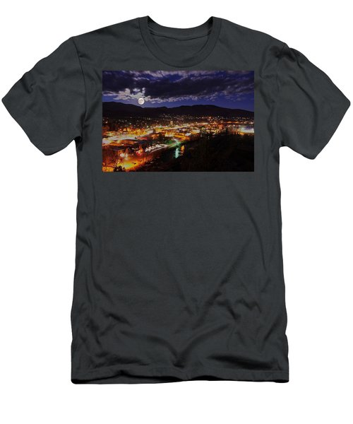 Super-moon Over Steamboat Men's T-Shirt (Slim Fit) by Matt Helm