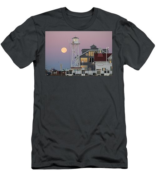 Super Wolf Moon At The Watch Tower Men's T-Shirt (Athletic Fit)
