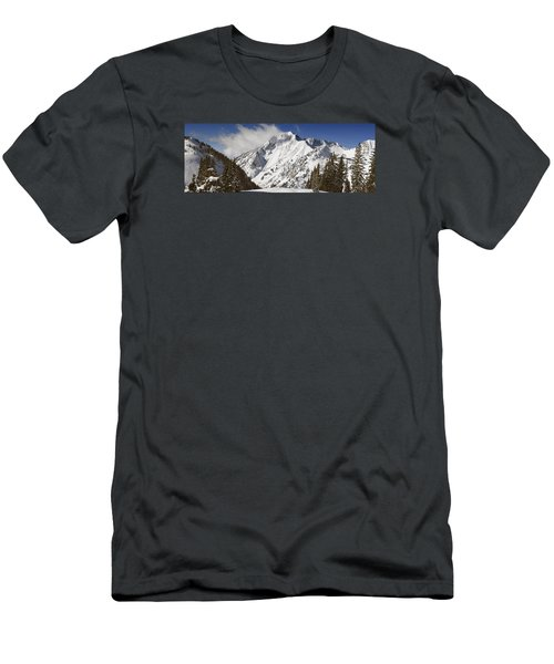 Superior Peak Wasatch Mountains Utah Panorama Men's T-Shirt (Slim Fit) by Utah Images