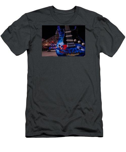 Superman Rocks Men's T-Shirt (Athletic Fit)