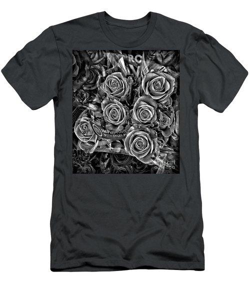Supermarket Roses Men's T-Shirt (Slim Fit) by Walt Foegelle