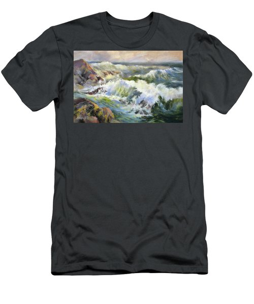 Surf Action Men's T-Shirt (Slim Fit) by Rae Andrews