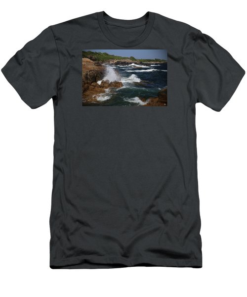 Surf At Biddeford Pool Men's T-Shirt (Athletic Fit)