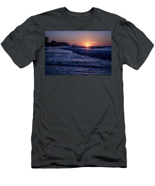 Surf Fishing At Sunrise Men's T-Shirt (Athletic Fit)
