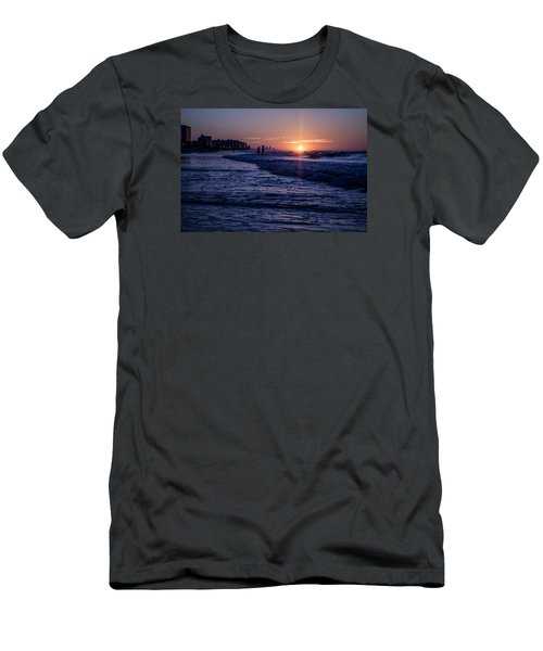 Surf Fishing At Sunrise Men's T-Shirt (Athletic Fit)