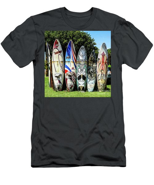 Surfboard Hana Maui Hawaii Men's T-Shirt (Slim Fit) by Peter Dang