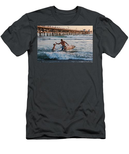 Surfboard Inspirational Men's T-Shirt (Athletic Fit)