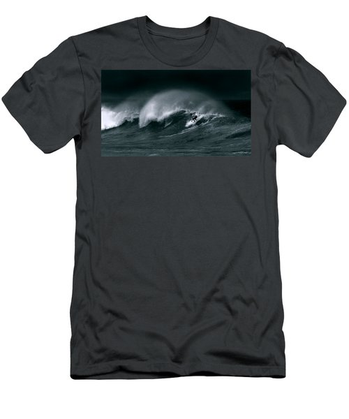 Surfing In Heavy Wind And Tide Men's T-Shirt (Athletic Fit)