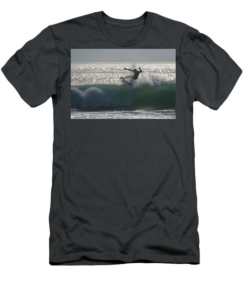 Men's T-Shirt (Slim Fit) featuring the photograph Surfing The Light by Thierry Bouriat