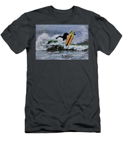 Men's T-Shirt (Slim Fit) featuring the photograph Surfs Up by B Wayne Mullins