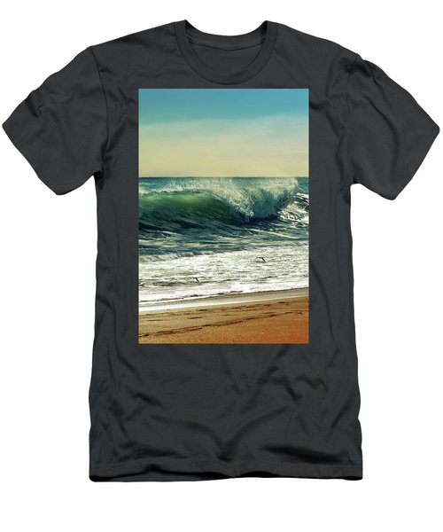 Men's T-Shirt (Slim Fit) featuring the photograph Surf's Up by Laura Fasulo
