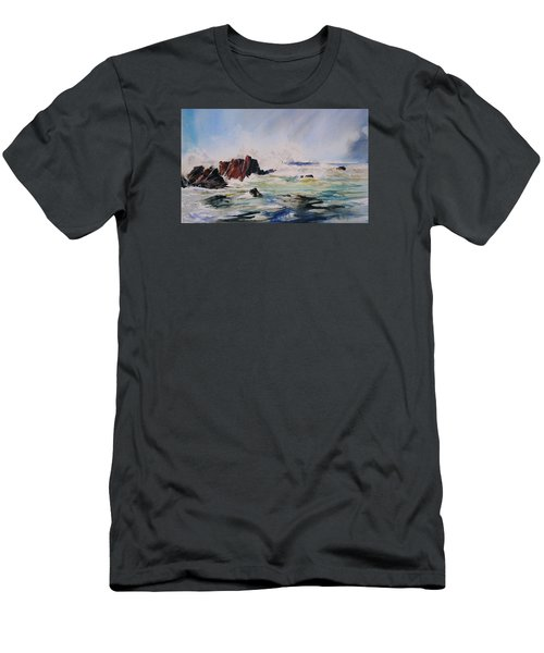 Surf's Up Men's T-Shirt (Slim Fit) by P Anthony Visco