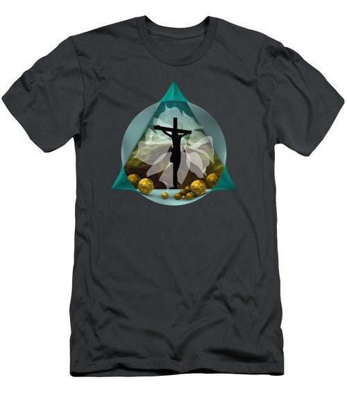 Surreal Crucifixion Men's T-Shirt (Athletic Fit)