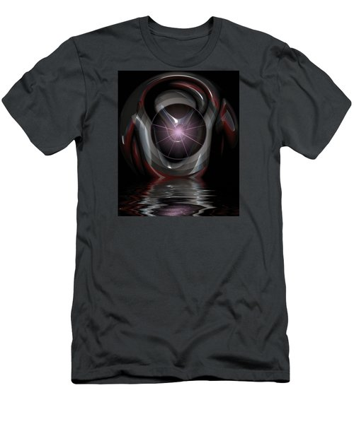 Men's T-Shirt (Slim Fit) featuring the digital art Surreal Reflections by Mario Carini