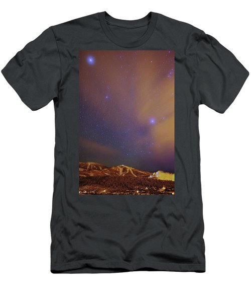 Surreal Ski Area Men's T-Shirt (Slim Fit) by Matt Helm