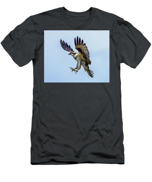 Suspended Osprey Men's T-Shirt (Slim Fit) by Jerry Cahill