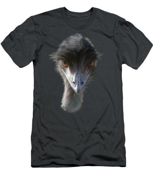 Suspicious Emu Stare Men's T-Shirt (Athletic Fit)